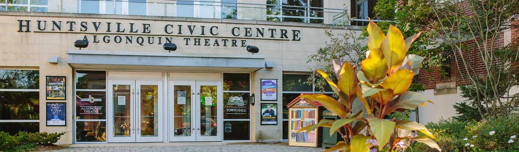image of the Huntsville Civic Centre and Algonquin Theatre
